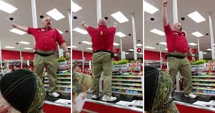 target black friday drone target manager channels his inner spartan for black friday