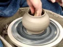 throwing a pot throwing a pot using a roulette gear technique for surface texture