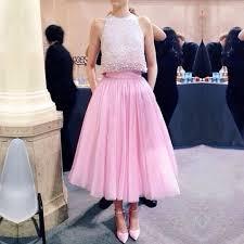 modern jewel pearls two piece tea length pink prom dress evening