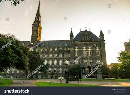 georgetown university main building washington dc stock photo