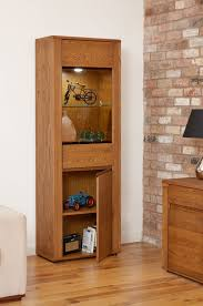 Dark Oak Furniture Benson Dark Oak Furniture Tall Display Cabinet