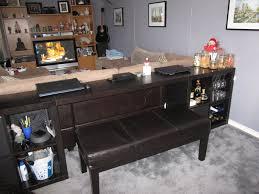 ikea sofa hacks expedit sofa table bar computer desk ikea hackers ikea hackers
