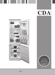 cda refrigerator fw870 user guide manualsonline com