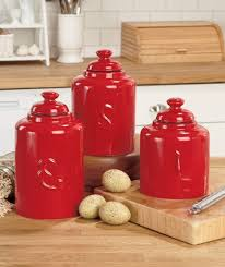 red canister set for kitchen kenangorgun com walmart