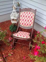 Antique Nursing Sewing Rocker Small Star Pattern Seat Antique Folding Nursing Rocking Chair Boho Funky Upholstery