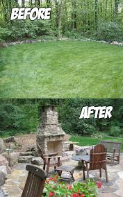 Outdoor Living Areas Images by Outdoor Living Area Before U0026 After C E Pontz Sons Landscape