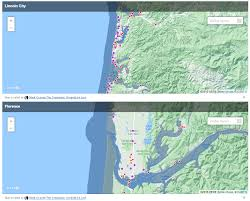 Oregon Tsunami Map by Oregon Coast Interactive Tsunami Inundation Map