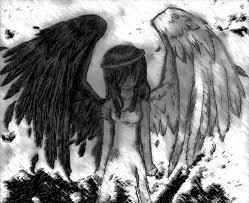emo clipart fallen angel pencil and in color emo clipart fallen