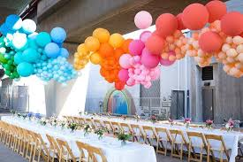 large balloons whimsical dinner party with balloons bickiboo designs