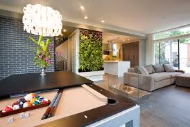 modern living room with plants
