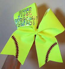 softball hair bows pitch softball team hair bows cheer bow neon yellow