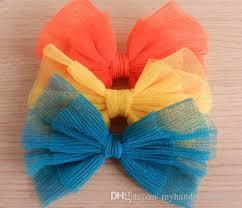 tulle hair bows wholesale handmade tulle hair bow clip mesh hair bow hair clip