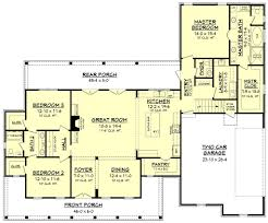 house plans with kitchen in front farmhouse style house plan 3 beds 2 50 baths 2282 sq ft plan