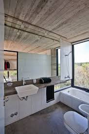 Industrial Style Bathroom Vanity Industrial Aesthetic Values In A Beach Home By Bak Architects
