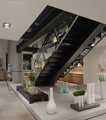 Living Room With Stairs Design 10 Steel Staircase Designs Sleek Durable And Strong