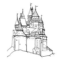 coloriage chevalier et chateau a imprimer gratuit