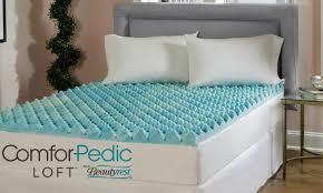 gel memory foam mattress topper groupon goods