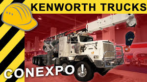 kenworth europe kenworth truck t880 u0026 c550 us trucks conexpo 2017 youtube