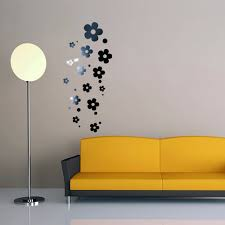 Modern Wall Stickers For Living Room Online Get Cheap Mirror Wall Flowers Stickers Aliexpress Com