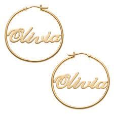 name hoop earrings gold sterling silver name hoop earrings keep