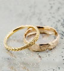 gold wedding bands bario neal gold weddings fishtail and gold