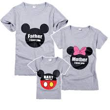 100 cotton grey print family matching t shirt woopshop