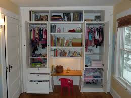 bookshelves beautiful desk in closet ideas seat sliding door