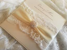 vintage pearl main crystal couture luxury wedding stationery
