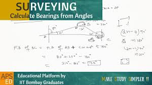 Interior Angles Calculator Calculate Bearings From Angles Surveying Youtube