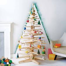 diy modern woodentmas tree steps pattern lights wood