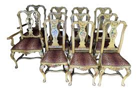 Painted Dining Chairs by Antique Italian Painted Dining Chairs Set Of 8 Chairish