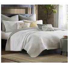 pacifica taupe and ivory quilt bedding set