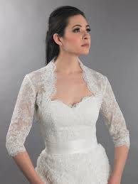 wedding dress jacket 3 4 sleeve ivory bridal alencon lace bolero jacket lace 112