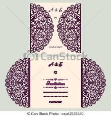 die cut wedding invitation card template paper cut out card