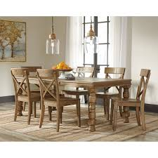 Piece Solid Pine Dining Table Set By Signature Design By Ashley - Pine dining room sets