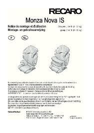 siege auto recaro monza 2 notice recaro monza seatfix 2 siège auto trouver une solution