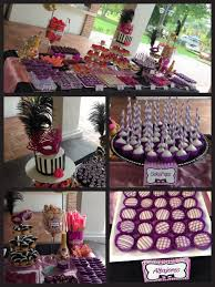 candy bar de 15 años tema máscaras candy bar sweet 16