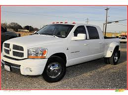 dodge ram mega cab dually for sale 2006 dodge ram 3500 slt mega cab dually in bright white 218668