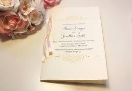 wedding program sles wording wedding program wedding program booklets blush and