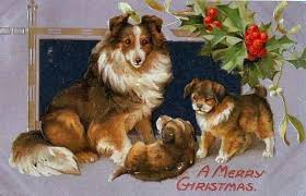 dog christmas cards free clip from vintage crafts archive free