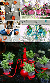 Creative Chandelier Ideas 29 Insanely Creative Diy Planter Ideas From Household Items