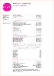 hairstyle price list hair salon invoicete price list beauty free survey invoice