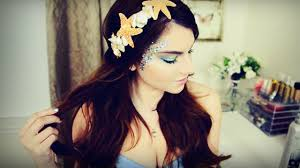 mermaid tails for halloween mermaid makeup hair u0026 diy seashell headband i halloween youtube