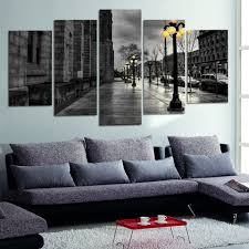 modern canvas pictures retro ink paintings city street landscape modern canvas pictures retro ink paintings city street landscape posters livingroom wall art no frame 5 piece deco wallapper in painting calligraphy from