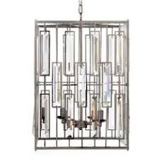 Z Gallerie Chandeliers 65 19 62cm Rectangle Crystal Polished Chrome Pipe Erected Ceiling