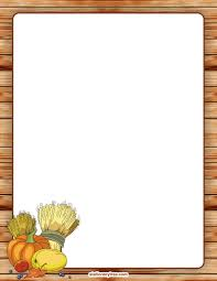 printable thanksgiving stationery and writing paper free pdf