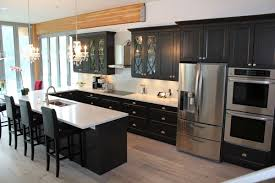 Knobs Kitchen Cabinets Black And White Kitchen Design And Decoration Using White Granite