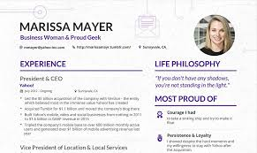 Sample Resume Of Ceo Make Your Content Look As Good As This Cv From Yahoo U0027s Ceo