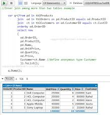 how to join tables in sql sql join tables exle stuffwecollect com maison fr