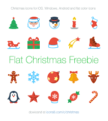 flat christmas free vector icon packs for all platforms icons8